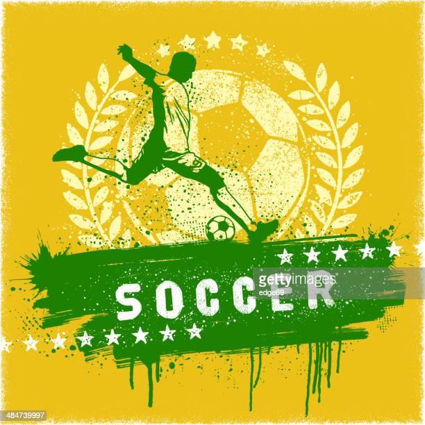 ilustrações, clipart, desenhos animados e ícones de de graffiti de futebol - football