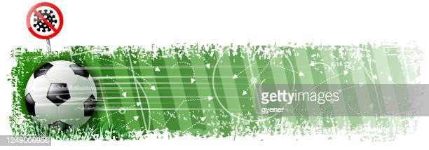 soccer hygiene goal banner - soccer competition stock illustrations