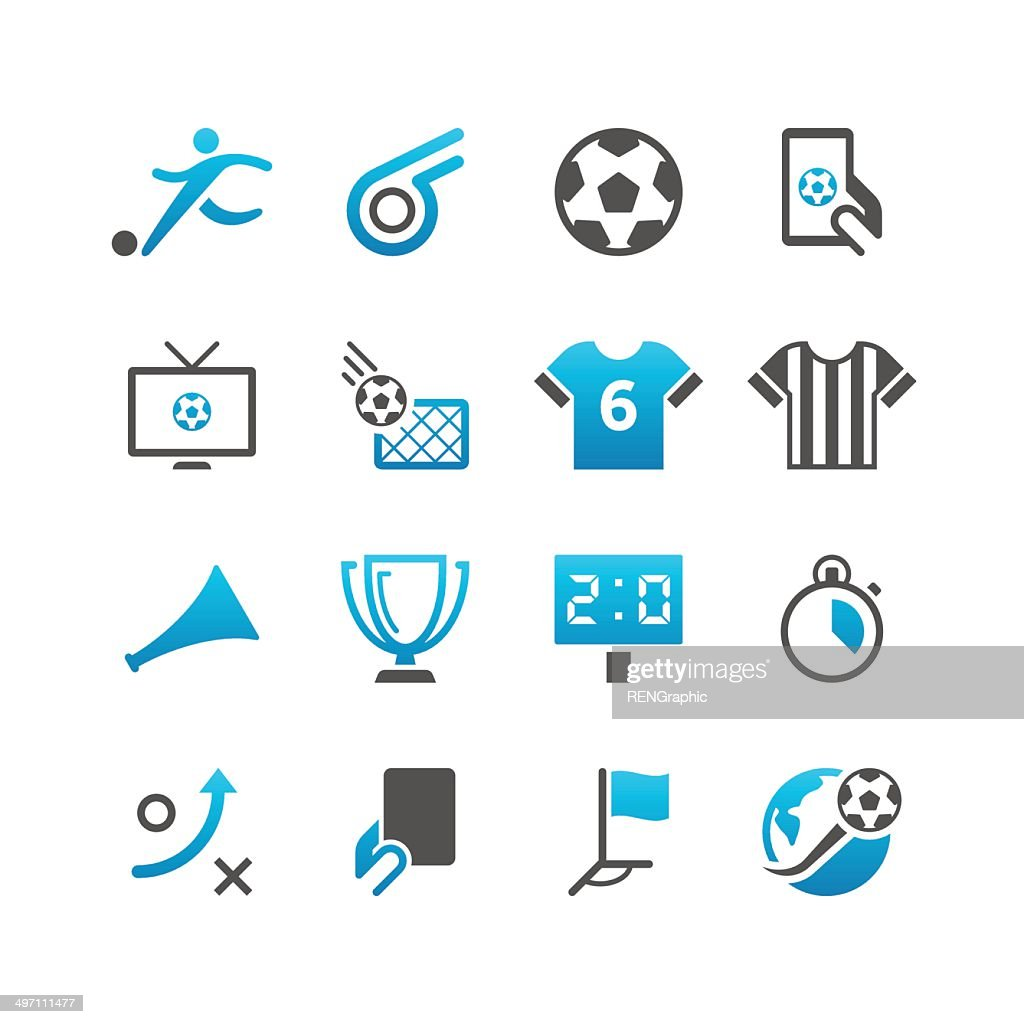Soccer Icon Set   Concise Series : stock illustration