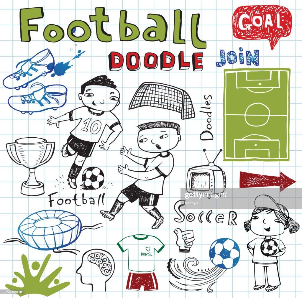 Soccer icon set on
