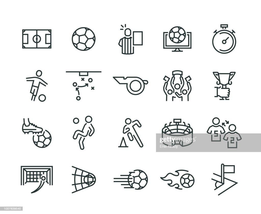 Ensemble d'icônes de football : Illustration