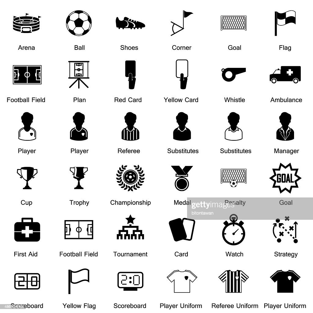 soccer icon set