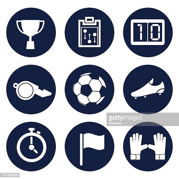 ilustraciones, imágenes clip art, dibujos animados e iconos de stock de icono de vector de fútbol - guantes de portero