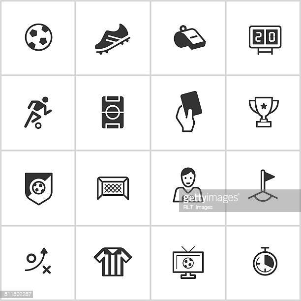 soccer icons — inky series - soccer uniform stock illustrations