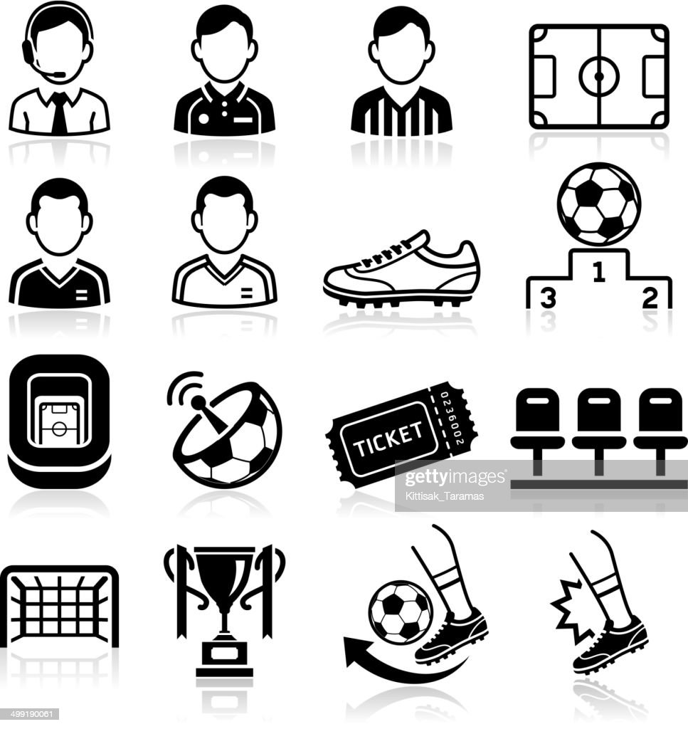 Soccer icons set .