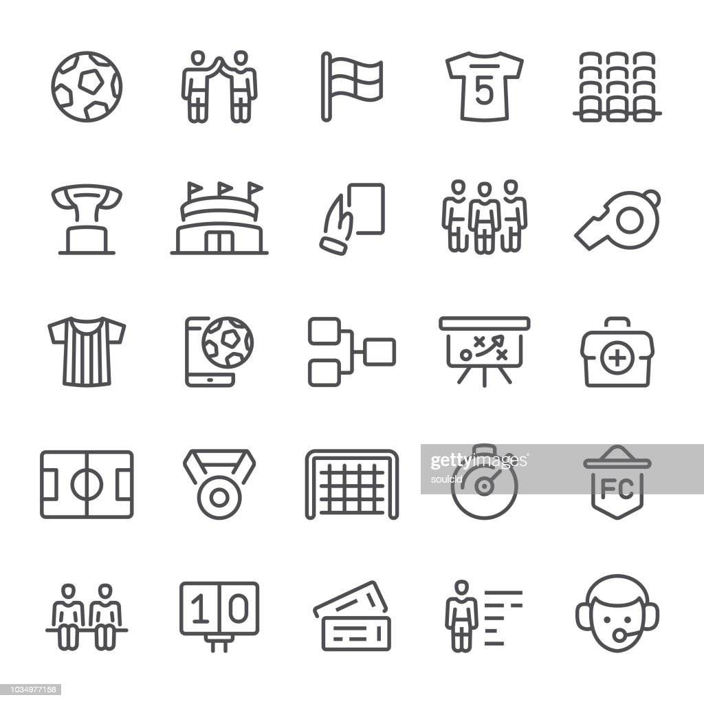 Soccer Icons : stock illustration