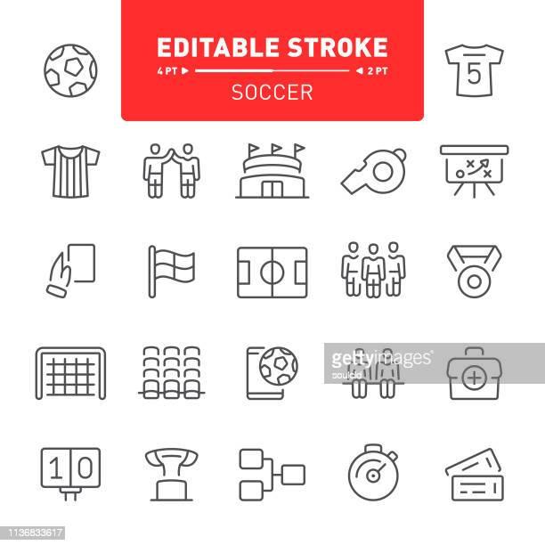 soccer icons - soccer uniform stock illustrations