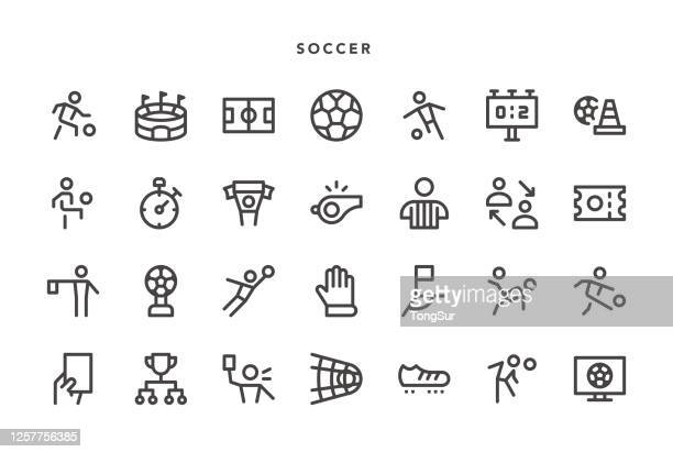 soccer icons - football strip stock illustrations
