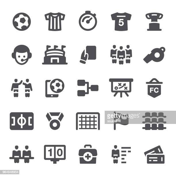 soccer icons - scoring stock illustrations