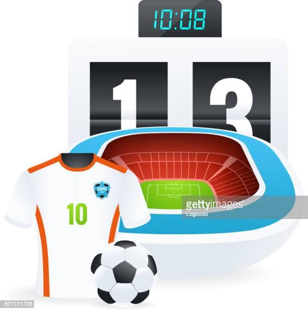 ilustraciones, imágenes clip art, dibujos animados e iconos de stock de ilustración de fútbol - cancha futbol