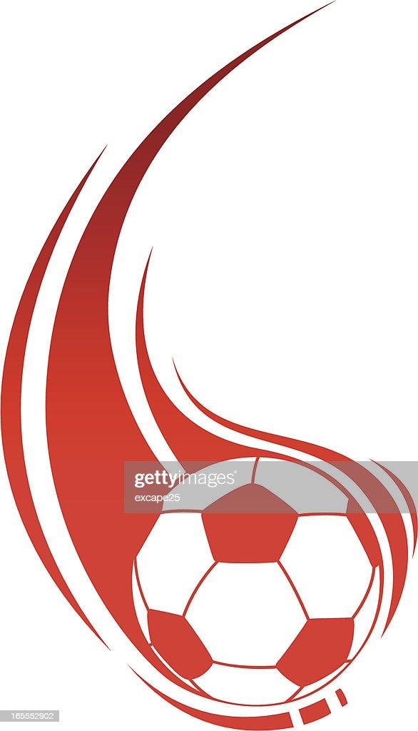 Soccer in flame