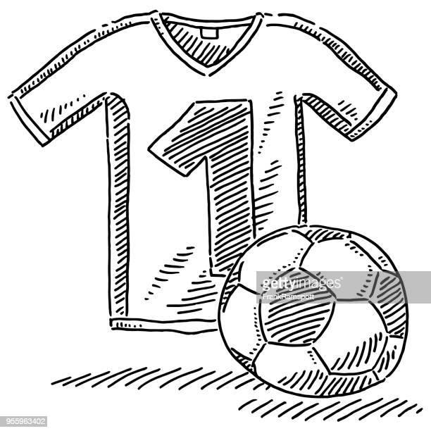 Soccer Jersey Ball Symbol Drawing