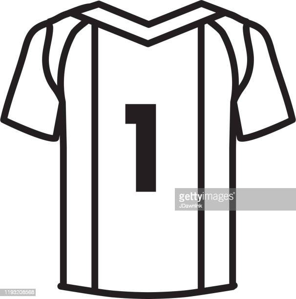 soccer jersey icon in thin line style - sports jersey stock illustrations