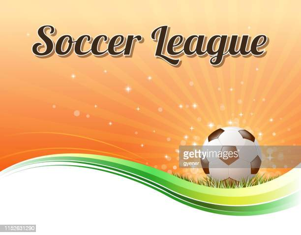 soccer league sign - soccer competition stock illustrations