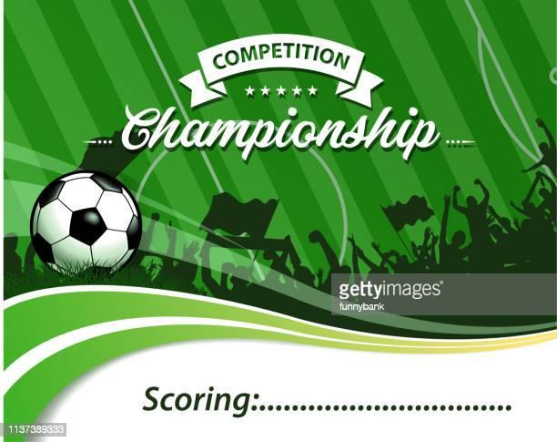 illustrazioni stock, clip art, cartoni animati e icone di tendenza di calcio calcio calcio onda - competizione calcistica