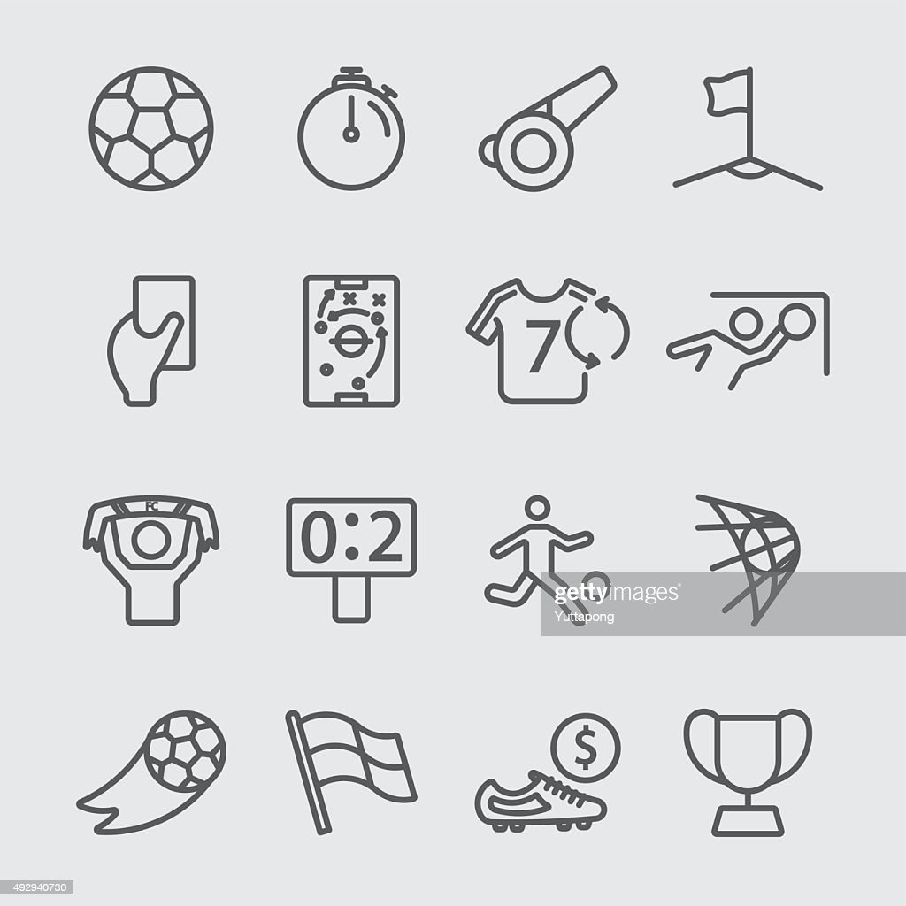 Soccer line icon