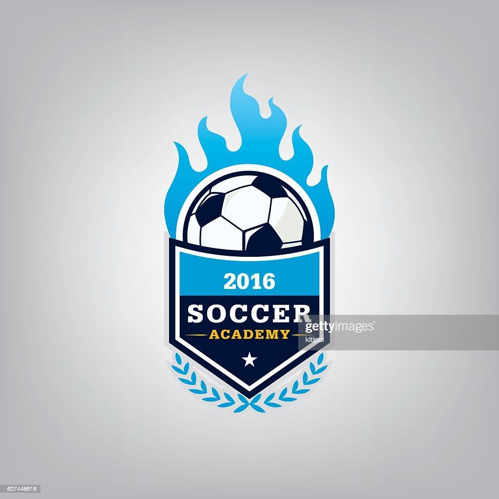 Soccer logo emblem design,vector illustration