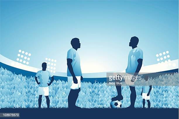 Soccer match kick off