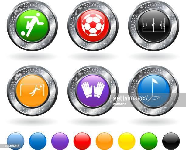 ilustraciones, imágenes clip art, dibujos animados e iconos de stock de partido de fútbol conjunto de iconos vectoriales sin royalties - guantes de portero