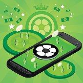 Soccer mobile phone