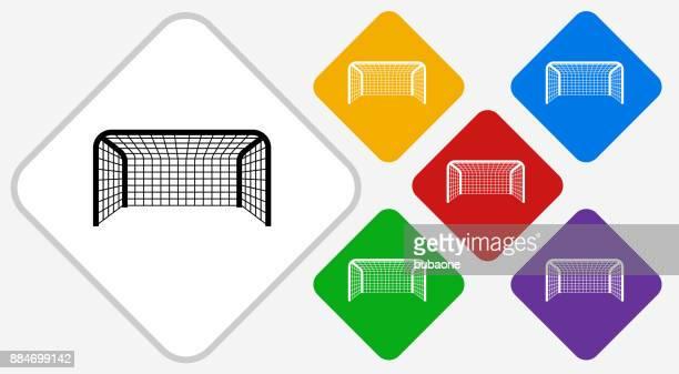 Soccer Net Color Diamond Vector Icon