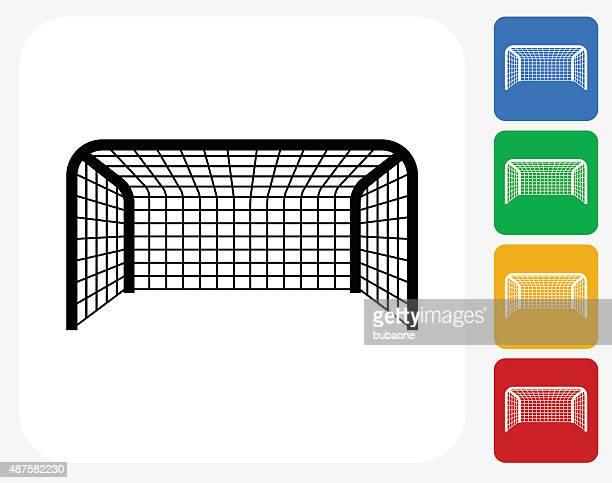 Soccer Net Icon Flat Graphic Design