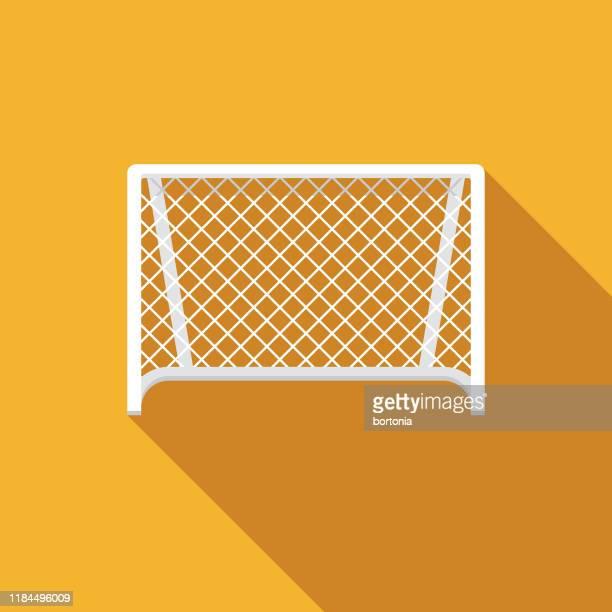 soccer net icon - soccer goal stock illustrations