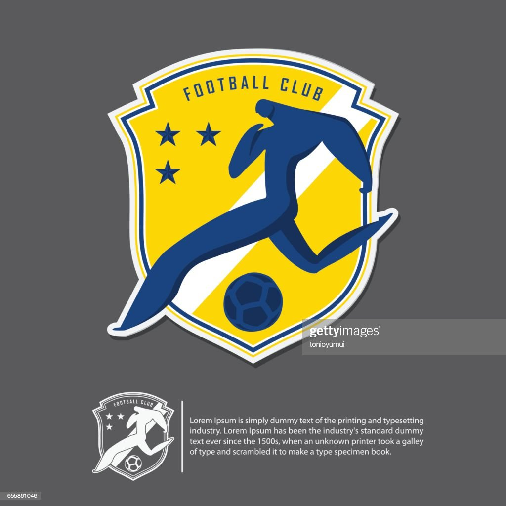 Soccer or football in flat design. Sport team identity template.