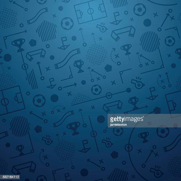Soccer Pattern Football Background