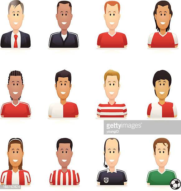 Soccer People Icons