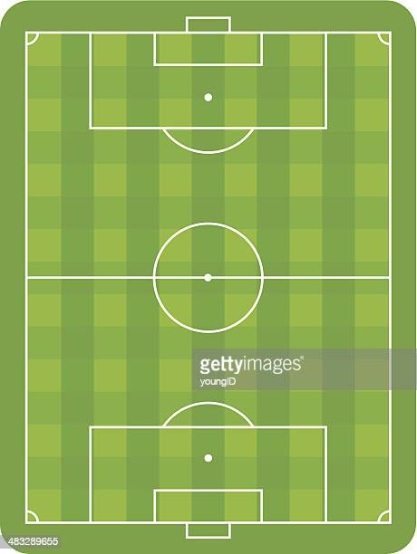 soccer pitch - football field stock illustrations, clip art, cartoons, & icons