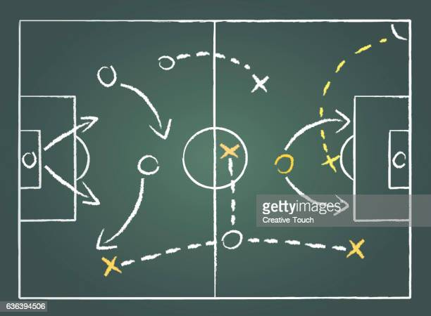 soccer plan - strategy stock illustrations, clip art, cartoons, & icons