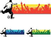 Soccer Player Banner