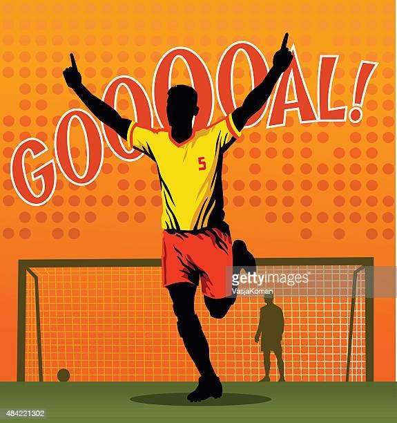 Soccer Player Celebrating - Scoring Goal