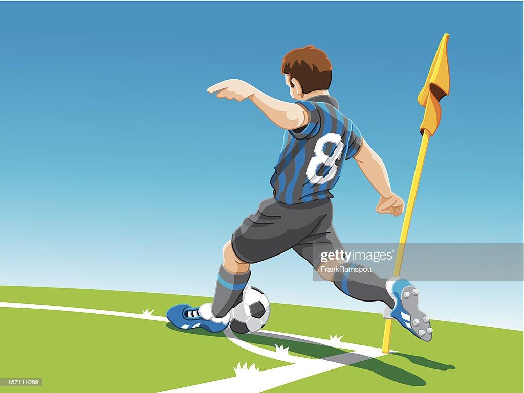 Soccer Player-Corner Kick : Stock-Illustration