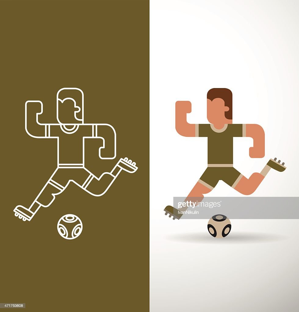 Soccer Player, flat and line
