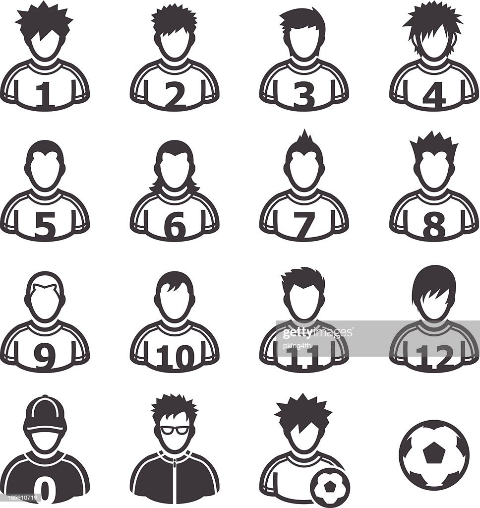 Soccer Player Icons