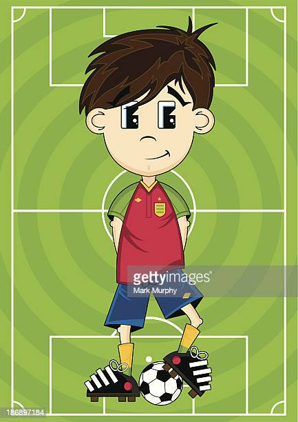 Soccer Player on Pitch