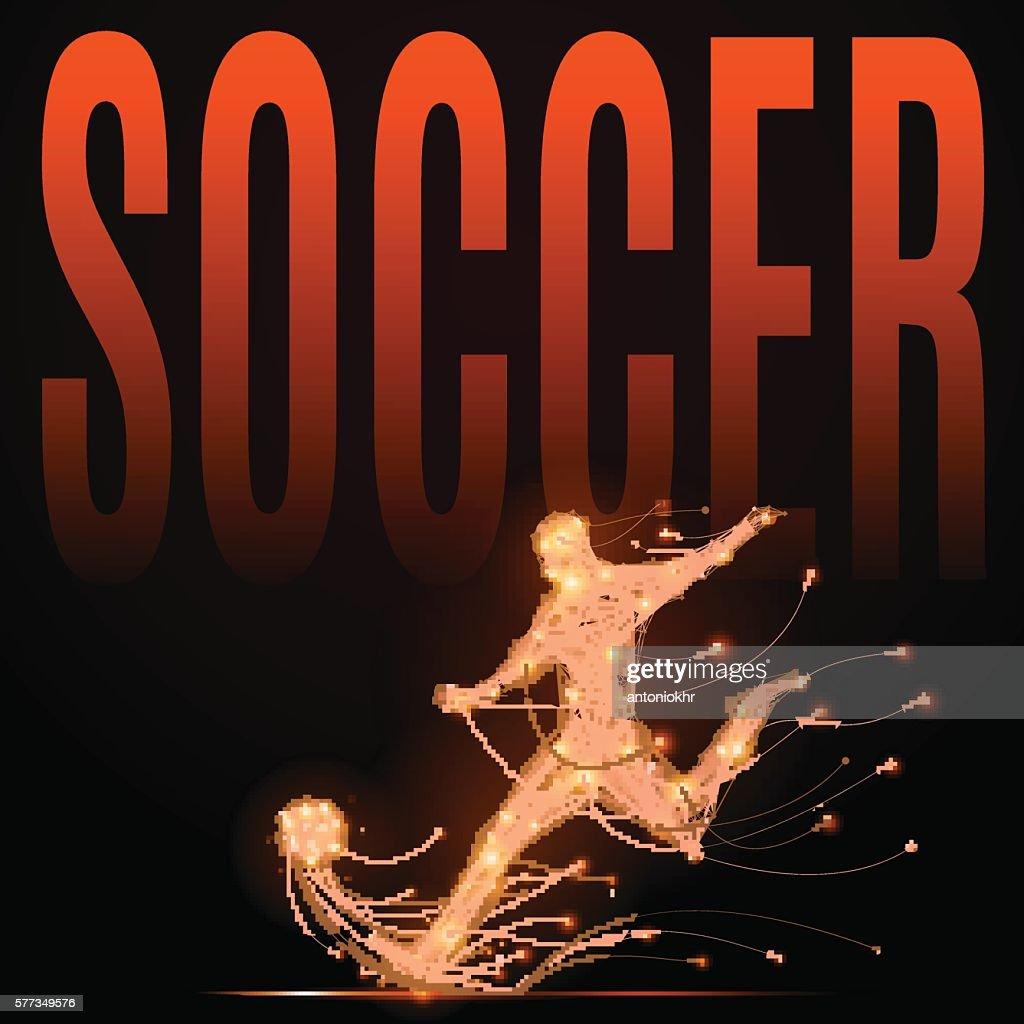 Soccer player polygonal