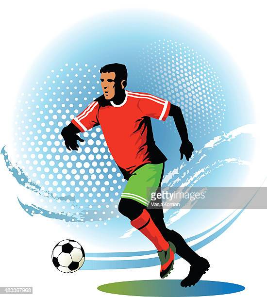 Soccer Player Running With Ball - Football Game