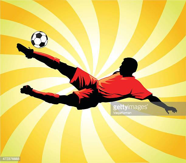 Soccer Player Striking the Ball