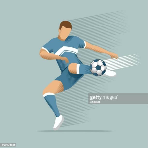soccer player - football player stock illustrations, clip art, cartoons, & icons