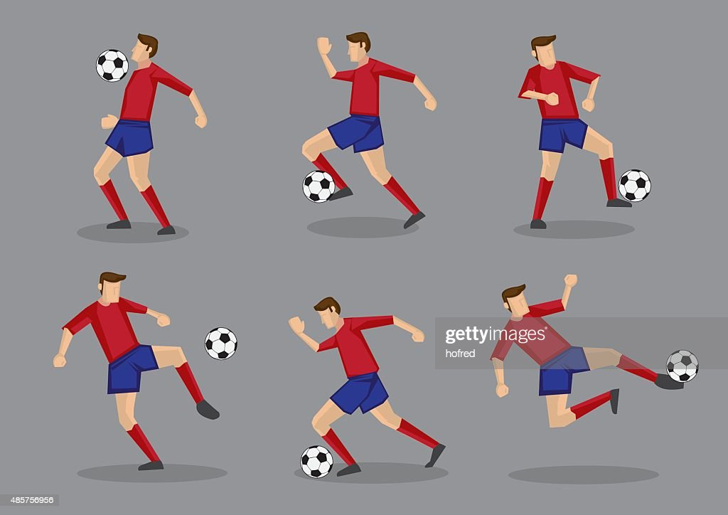 Soccer Player with Soccer Ball Vector Illustration