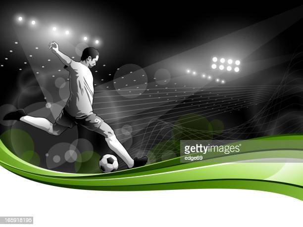 Soccer Player with Stadium Lights