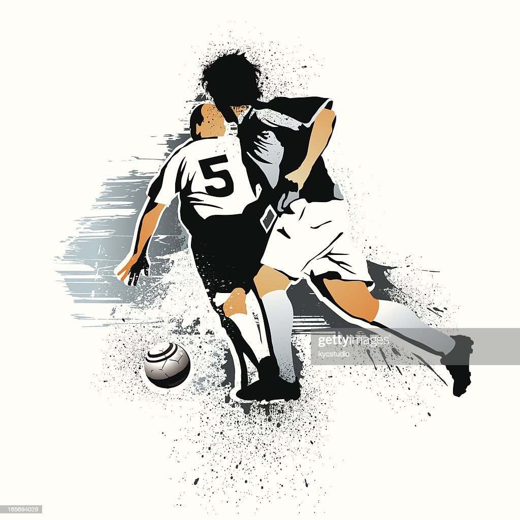 soccer players action : stock illustration