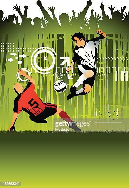 Fußball Spieler und Jubeln der Zuschauer