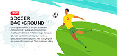 Soccer players . . Fool color vector illustration in flat style