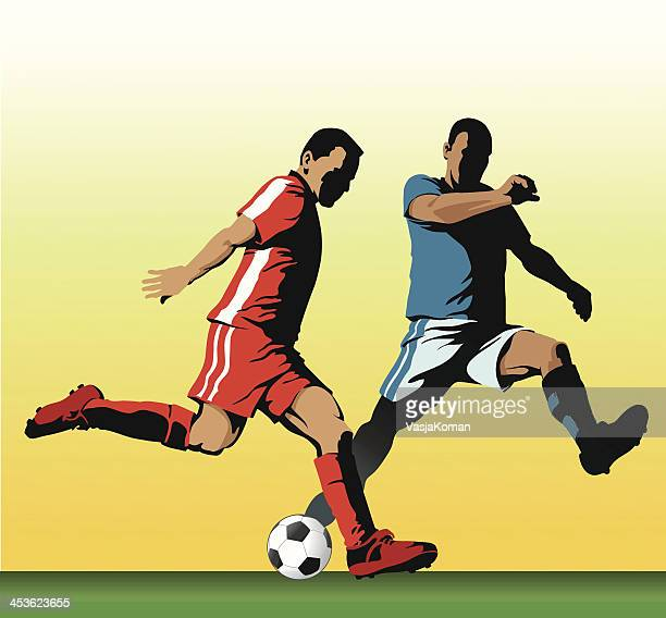 soccer players - midfielder soccer player stock illustrations