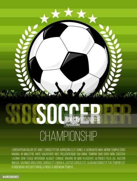 soccer poster - international soccer event stock illustrations