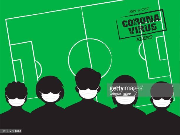 ilustraciones, imágenes clip art, dibujos animados e iconos de stock de cuarentena de fútbol - cuarentena